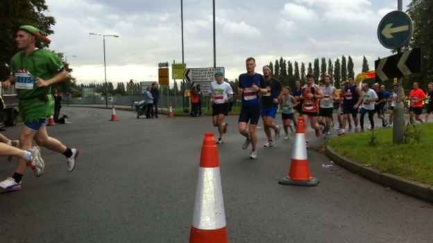 Half marathon runners in Nottingham