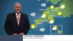 Plenty of sunshine but watch out for showers later