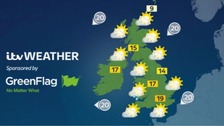 Weather: Dry and sunny for most with highs of 19C