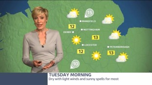 East Midlands Weather: Fine and dry with sunny spells