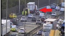 Lane closed on M6 Southbound due to spillage