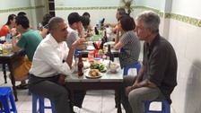 Obama stops off for $6 meal at street cafe in Vietnam
