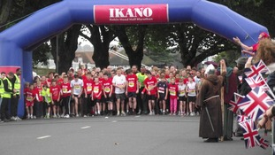 Start line of the mini marathon