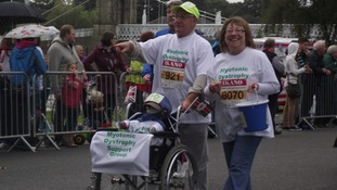 People taking part in the mini marathon