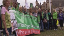 campaigners outside the house of commons