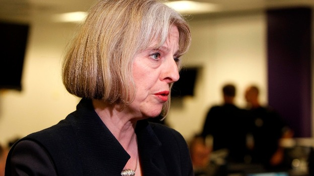 Home Secretary Theresa May.