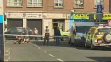 Gardaí at the scene of the latest shooting in Dublin.