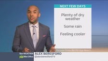 Weather: Rain on the way and temperatures starting to dip
