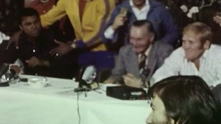 Ali and Dunn took part in a lively press conference before the fight