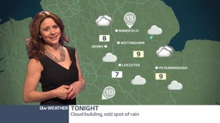 East Midlands Weather: mostly dry tonight