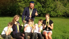 Invictus hero returns with his haul of medals