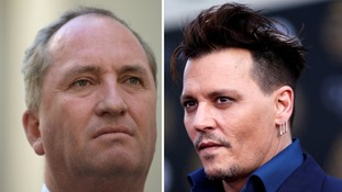 Depp says Australian minister looks like he was 'inbred with a tomato'