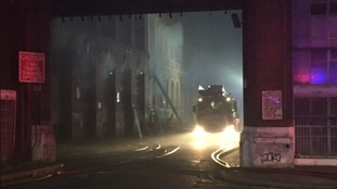 Factory fire underway in city centre