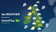 Outbreaks of rain with some sunny spells