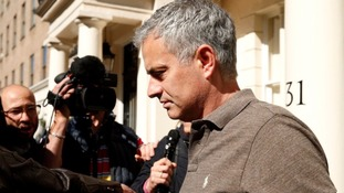 Jose Mourinho outside his London home yesterday