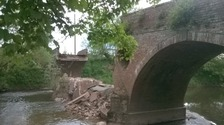 Road closures in place after Worcestershire bridge collapse