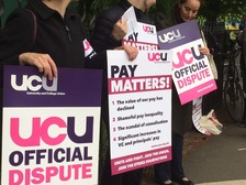 UCU picket line at Nottingham University