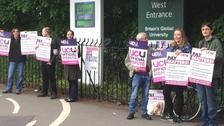 Midlands university lecturers begin 48-hour strike over pay row