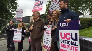 university lecturers on strike