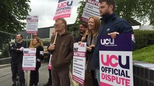University lecturers on strike over pay