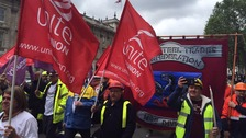 Steelworkers protest as Tata considers bids for UK plants