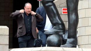 Rafa Benitez at St James's Park this afternoon