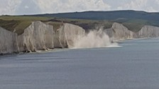 Huge cliff collapse in Sussex