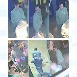 Police are keen to speak with the man in these CCTV images