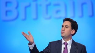 Labour party leader Ed Miliband speaks to the Labour Party conference