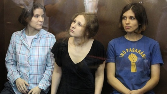 Three band members of Pussy Riot 