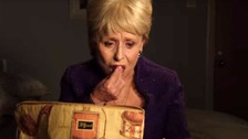 Dame Barbara Windsor as Peggy Mitchell in her controversial final Eastenders's scene