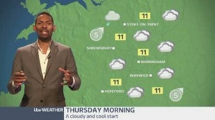 West Midlands Weather: patchy rain