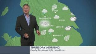 Thursday morning forecast: light rain and drizzle