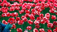 Poppies Wave goes on display at Lincoln Castle