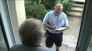 Jersey post man calls and checks on elderly islander