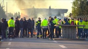 Workers strike in France