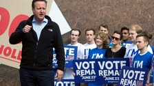 David Cameron urges young people to vote in EU referendum