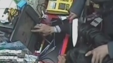 Shocking knifepoint robbery caught on CCTV