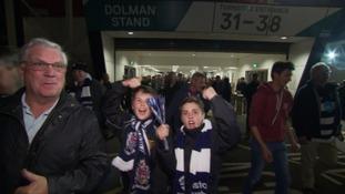 Fans react jubilantly