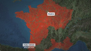 Ferry passengers told not to take fuel to France