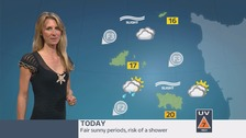 Fair or sunny periods with the risk of a shower