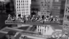 Iconic 'Manhattan lunch' image recreated in Lego
