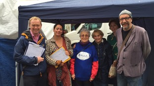 Tim Farron collects signatures in Kendal.