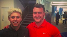 Niall Horan and Stuart Hogg.