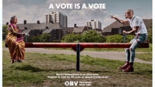 Sadiq Khan attacks referendum poster aimed at voters from ethnic minorities