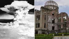 The remnants of the Hiroshima Prefectural Industrial Promotion Hall