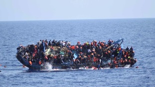 The overcrowded boat capsized off the coast of Libya on Wednesday.