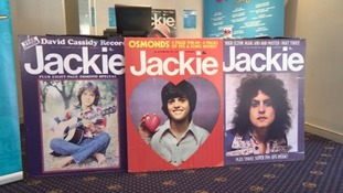 Stands show some of the front covers of Jackie