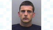 A driver has been jailed for ramming two police cars when they tried to stop him as he and friend made a drugs run.
