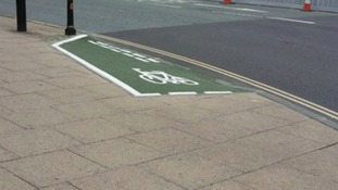 Is this the world's shortest cycle lane?